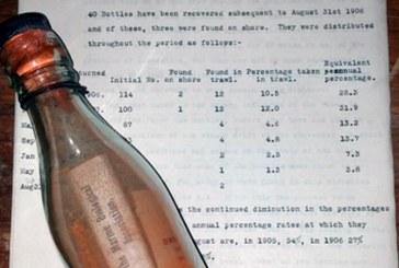 Száznyolc éven át hánykolódott a tengeren a világ legrégebbi palackpostája