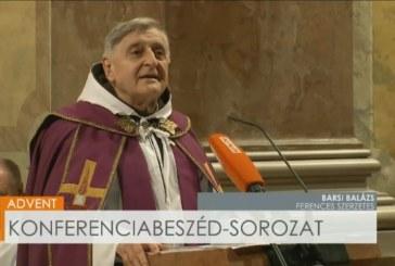 Barsi Balázs atya konferenciabeszéde Advent első vasárnapján