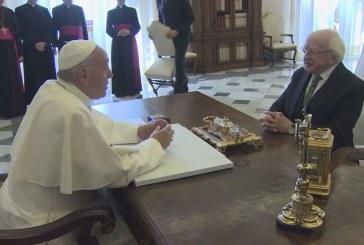 Ír elnök a Vatikánban