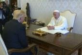 A pápa fogadta Donald Trumpot a Vatikánban