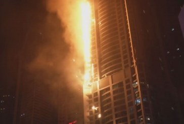 Kigyulladt a dubaji toronyház