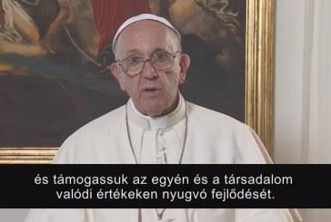 Intentio – Ferenc pápa októberi videoüzenete