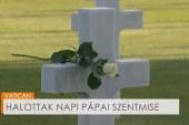 Halottak napi pápai szentmise