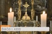 Szentmise a pesti ferences templomban: Tömördi Viktor