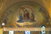 Szentmise a IX. kerületi Szent Kereszt templomból: Kálmán József