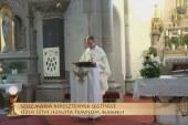 Szentmise a budapesti Jézus Szíve jezsuita templomból