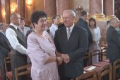 Házaspárokat ünnepeltek