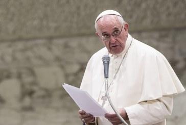 Ferenc pápa üzenete honlapunkon