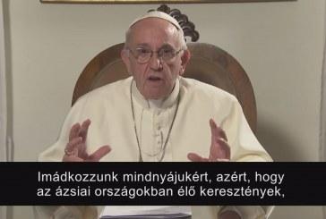 Ferenc pápa januári videoüzenete