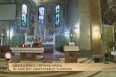 Szentmise a IX. kerületi Szent Kereszt templomból