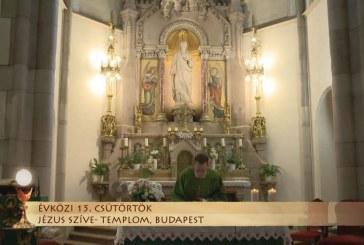 Szentmise a budapesti Jézus Szíve-templomból: Bellovics Gábor