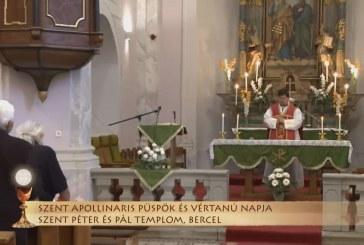Szentmise a berceli Szent Péter és Pál templomból: Hulitka Róbert