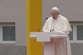 Vilniusban járt a pápa